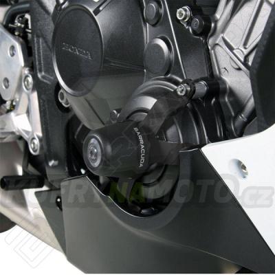 HLINÍKOVÉ NÁHRADNÍ HLAVY PADACÍCH PROTEKTORŮ - STŘÍBRNÁ pár Barracuda Honda CBR 650 F všechny r.v.