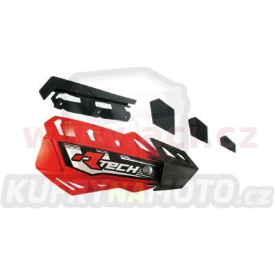 plasty krytů páček FLX / FLX ALU / FLX ATV, RTECH (červeno-černé, pár)