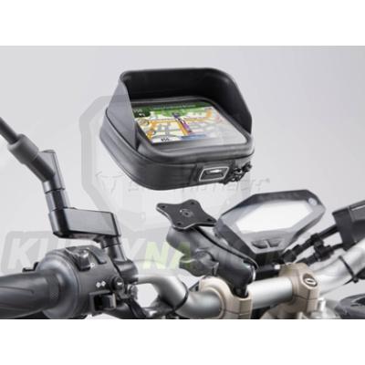 Držák úchyt GPS na řídítka a taška na GPS SW Motech Suzuki SV 1000 2003 - 2005 WVBX GPS.00.308.30201/B-BC.12895