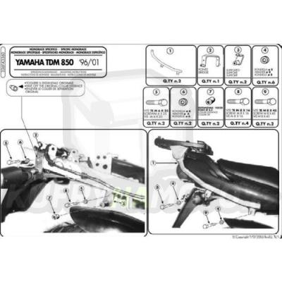 Kit pro montážní sada – nosič kufru Kappa Yamaha TDM 850 1996 – 2001 K1630-K3360