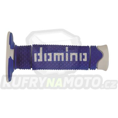 Rukojeti gripy Domino Tommaselli off road D.S.H. barva modrá bílá