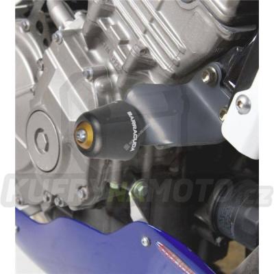 HLINÍKOVÉ NÁHRADNÍ HLAVY PADACÍCH PROTEKTORŮ - ČERNÁ pár Barracuda Honda Hornet 600 1999 – 2002