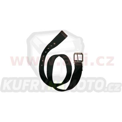 černý látkový opasek s kovovou přezkou a trnem 135 cm