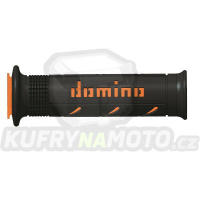 Rukojeti gripy Domino Tommaselli silnice racing XM2 Super Soft barva černá oranžová