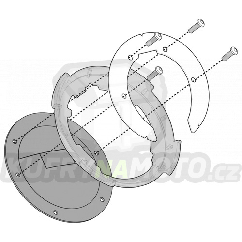 Montážní sada – nosič držák tankvaku Tanklock Kappa Honda VFR 800 Vtec 2002 – 2011 K1937-BF03K