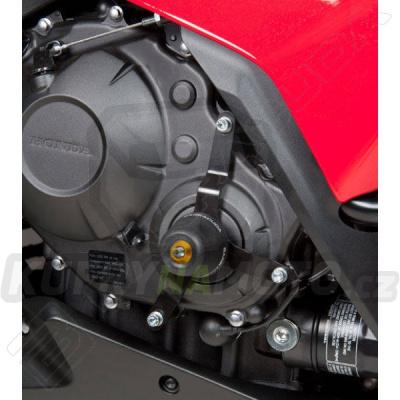 HLINÍKOVÉ NÁHRADNÍ HLAVY PADACÍCH PROTEKTORŮ - ZLATÁ pár Barracuda Honda CBR 1000 RR 2011 - 2016