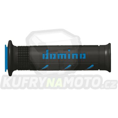 Rukojeti gripy Domino Tommaselli silnice racing XM2 Super Soft barva černá modrá