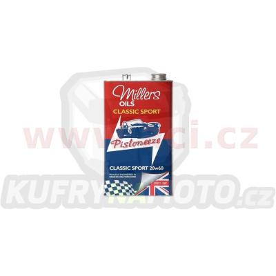MILLERS OILS Classic Sport Pistoneeze 20W50, motorový polosyntetický olej (v plechovém retro obalu) 5 l