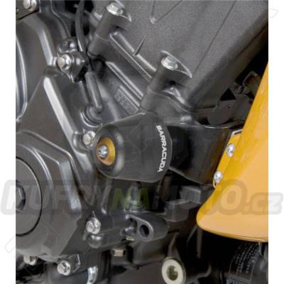 HLINÍKOVÉ NÁHRADNÍ HLAVY PADACÍCH PROTEKTORŮ - ČERNÁ pár Barracuda Honda Hornet 600 2007 – 2010