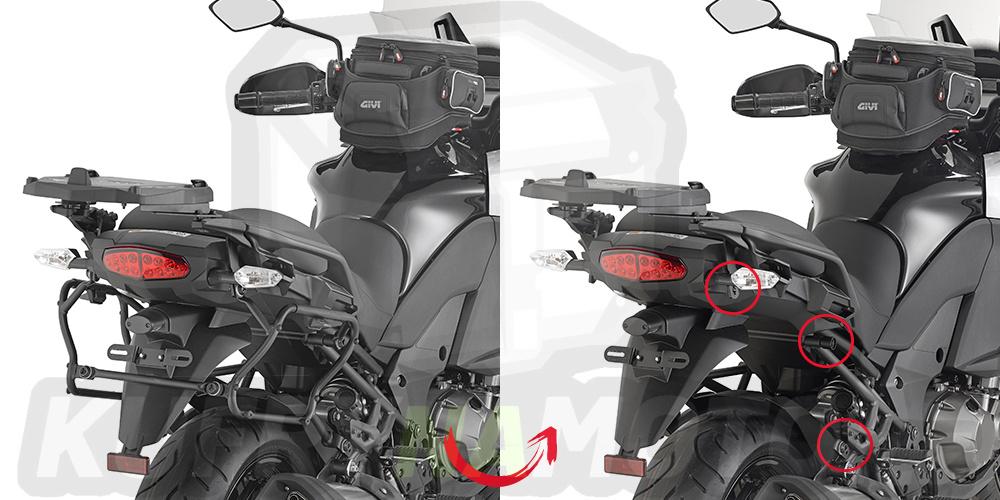 Montážní sada držák – nosič kufru bočních Kappa Kawasaki Versys 1000 2015 – 2016 K893-KLXR4113