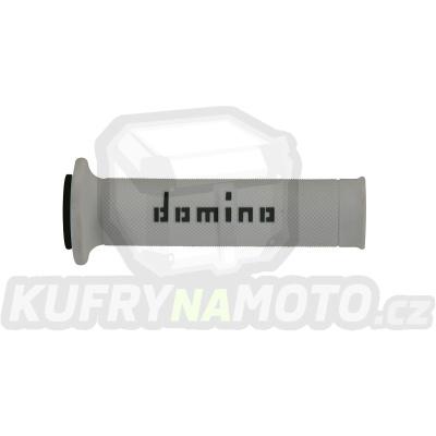 Rukojeti gripy Domino Tommaselli silnice racing soft barva bílá černá