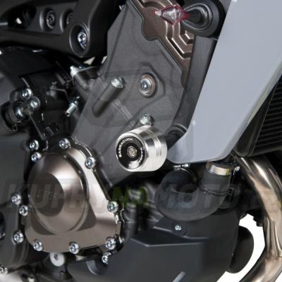HLINÍKOVÉ NÁHRADNÍ HLAVY PADACÍCH PROTEKTORŮ - MODRÁ pár Barracuda Yamaha MT - 09 850 2014 – 2016