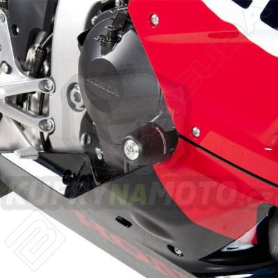 HLINÍKOVÉ NÁHRADNÍ HLAVY PADACÍCH PROTEKTORŮ - STŘÍBRNÁ pár Barracuda Honda CBR 600 RR 2013 - 2017
