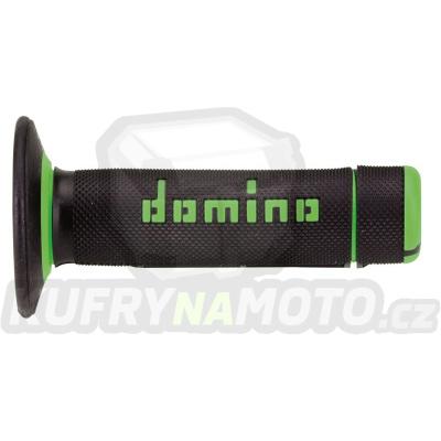 Rukojeti gripy Domino Tommaselli off road cross barva černá zelená
