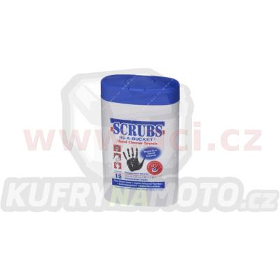SCRUBS - vlhčené utěrky (19,5x20 cm) na čištění rukou, balení 15 ks
