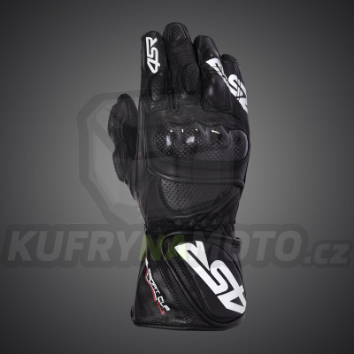 4SR moto rukavice SPORT CUP PLUS BLACK