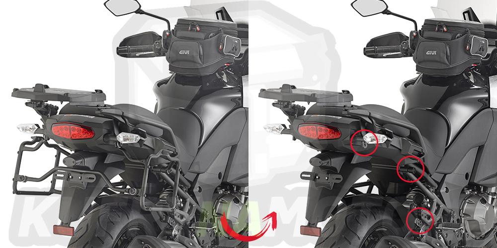 Montážní sada držák – nosič kufru bočních Kappa Kawasaki Versys 1000 2015 – 2016 K1009-KLR4113
