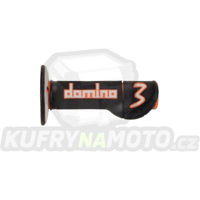 Rukojeti gripy Domino Tommaselli off road EXP.3 barva černá oranžová šedá