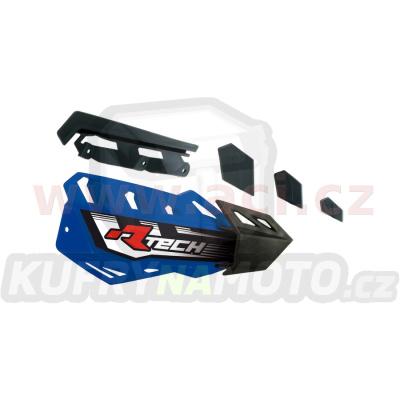 plasty krytů páček FLX / FLX ALU / FLX ATV, RTECH (modro-černé, pár)
