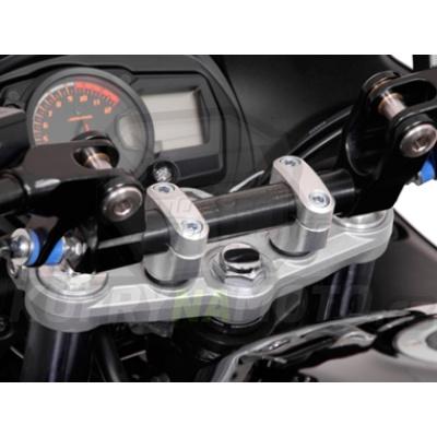 Držáky řidítek klemy pro průměr 28 mm stříbrná SW Motech Suzuki GSX 650 F 2007 -  WVCJ LEH.00.039.16200.08/S-BC.17765