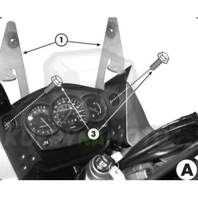 Montážní sada – držák pro plexisklo Kappa Kawasaki KLR 650 Enduro 2007 – 2017 K1775-D408KIT