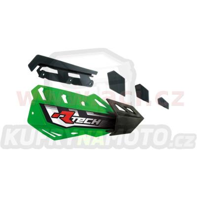 plasty krytů páček FLX / FLX ALU / FLX ATV, RTECH (zeleno-černé, pár)