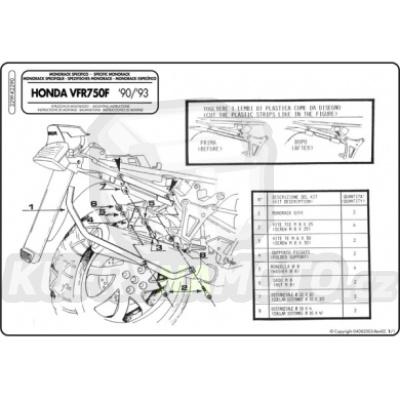Kit pro montážní sada – nosič kufru Kappa Honda VFR 750 F 1990 – 1993 K1655-K2290