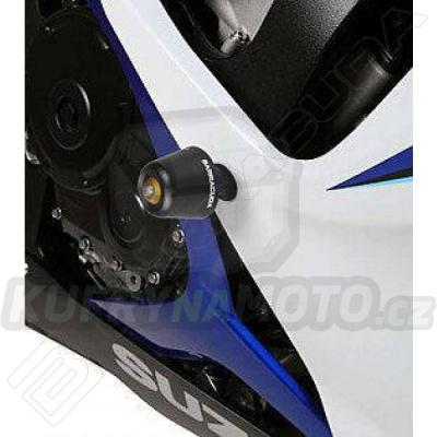 HLINÍKOVÉ NÁHRADNÍ HLAVY PADACÍCH PROTEKTORŮ - ČERNÁ pár Barracuda Suzuki GSX R 750 2006 - 2007