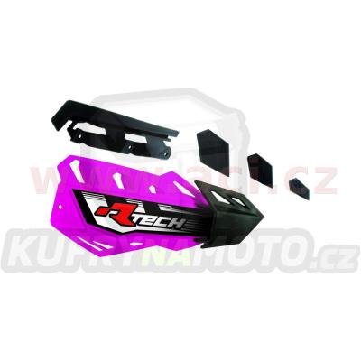 plasty krytů páček FLX / FLX ALU / FLX ATV, RTECH (neon růžovo-černé, pár)