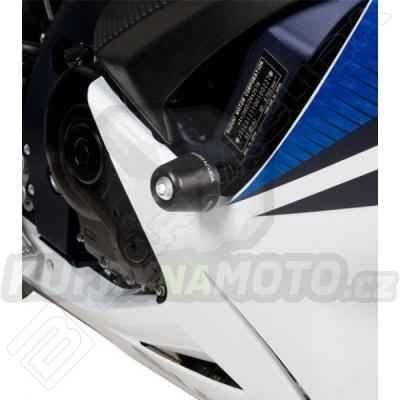 HLINÍKOVÉ NÁHRADNÍ HLAVY PADACÍCH PROTEKTORŮ - ZLATÁ pár Barracuda Suzuki GSX R 750 2011 - 2016