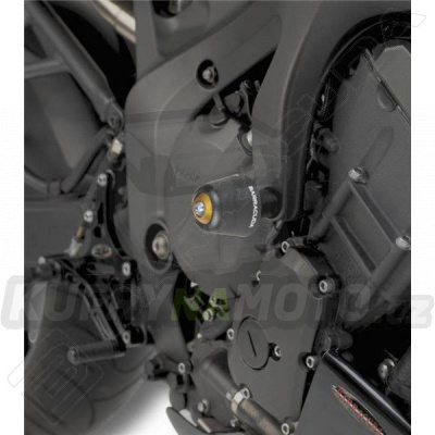 HLINÍKOVÉ NÁHRADNÍ HLAVY PADACÍCH PROTEKTORŮ - ZLATÁ pár Barracuda Yamaha FZ 6 600 všechny r.v.