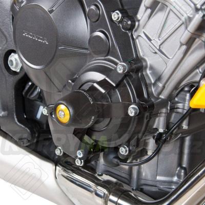 HLINÍKOVÉ NÁHRADNÍ HLAVY PADACÍCH PROTEKTORŮ - ČERNÁ pár Barracuda Honda CB 650 F 2017