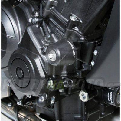 HLINÍKOVÉ NÁHRADNÍ HLAVY PADACÍCH PROTEKTORŮ - MODRÁ pár Barracuda Honda Hornet 600 2011 – 2013