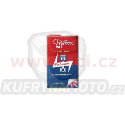 MILLERS OILS Classic Sport Pistoneeze 20W60, motorový polosyntetický olej (v plechovém retro obalu) 1 l