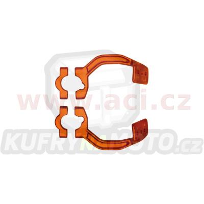 kovový montážní kit na řídítka krytů páček FLX / VERTIGO / DUAL EVO, RTECH (oranžový, pár)