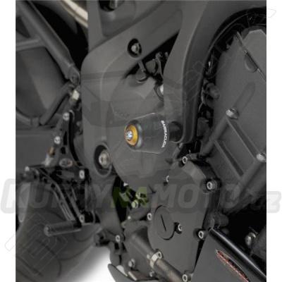 HLINÍKOVÉ NÁHRADNÍ HLAVY PADACÍCH PROTEKTORŮ - ČERNÁ pár Barracuda Yamaha FZ 6 600 všechny r.v.