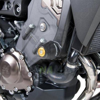 HLINÍKOVÉ NÁHRADNÍ HLAVY PADACÍCH PROTEKTORŮ - MODRÁ pár Barracuda Yamaha MT - 09 850 Tracer 2016 – 2017