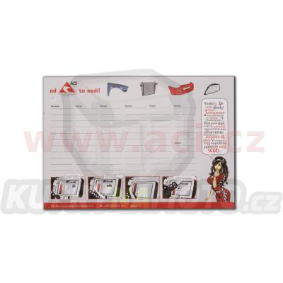 Blok ACI na pracovní stůl - SK, týdenní kalendář, 48x34 cm