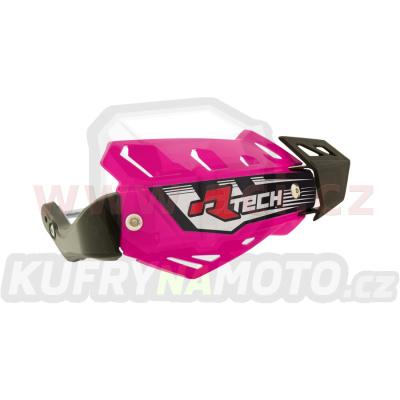 kryty páček FLX ATV, RTECH (neon růžové, 4 varianty v 1, vč. montážní sady)