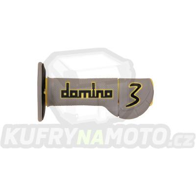 Rukojeti gripy Domino Tommaselli off road EXP.3 barva černá šedá