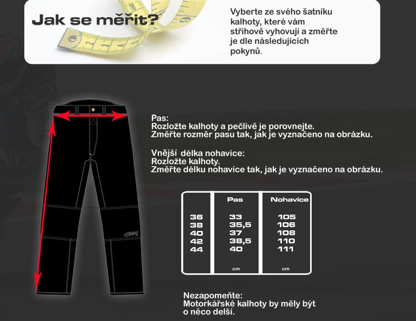 Tabulka dámské kalhoty 4SR